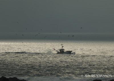 départ en pêche